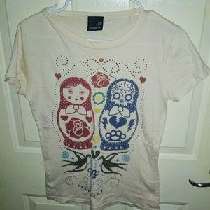 Loungefly Tops - Loungefly Nesting Dolls Tee Shirt Sz L